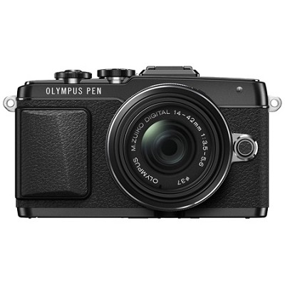 PEN E-PL7 Mirrorless Micro Four Thirds Black Digital Camera w/ 14-42mm IIR Lens