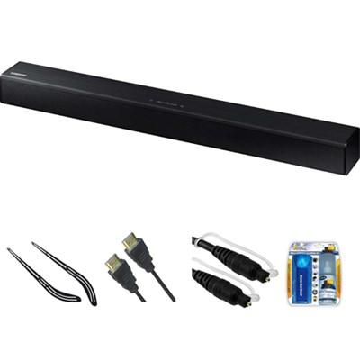 2.2 Channel 80 Watt Bluetooth Audio Soundbar (Black) HW-J250 w/ Bracket Kit