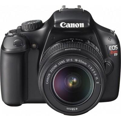 EOS Rebel T3 12.2 MP Digital SLR Camera - Black - EF-S 18-55mm IS II Lens