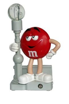 M9NL2TR-Z Red M&M Color Changing Night Light