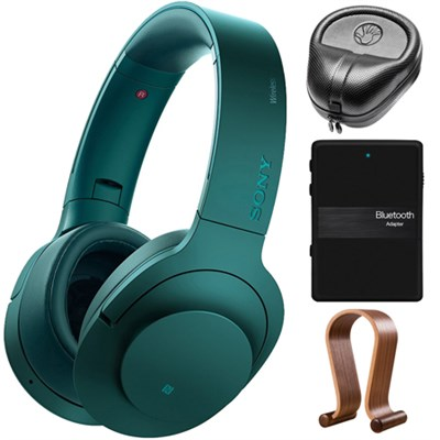 MDR100 Wireless NC On-Ear Bluetooth Headphones with Bluetooth Stereo Bundle