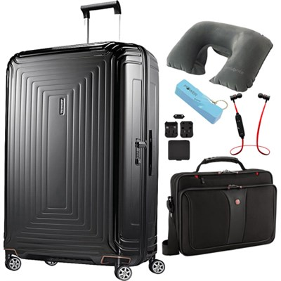 30` Neopulse Hardside Spinner in Metallic Black - Ultimate Travel Bundle