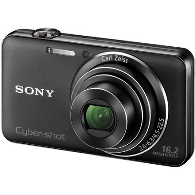 DSC-WX50/B - 16.2MP CMOS Sensor 5X Optical Zoom 2.7` LCD (Black) - OPEN BOX