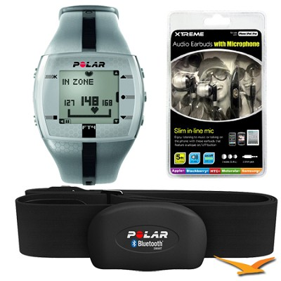 FT4 Heart Rate Monitor - Silver/Black (90039178) Bundle