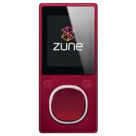 Zune 2nd Generation 8GB Media Player (Red)