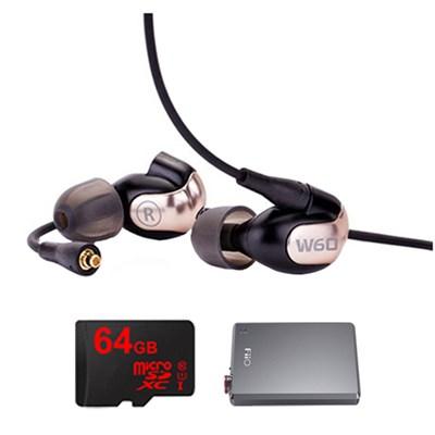 W60 Premium In-Ear Monitor - 78507 w/ FiiO E12 Amp Bundle