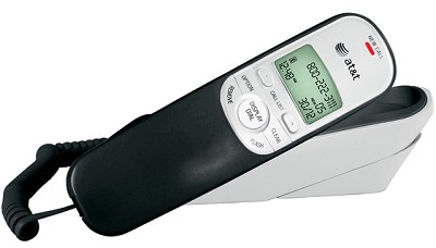 Trimline Corded Phone with Caller ID - Black