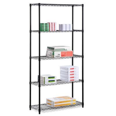 72` Five Tier Shelf Black