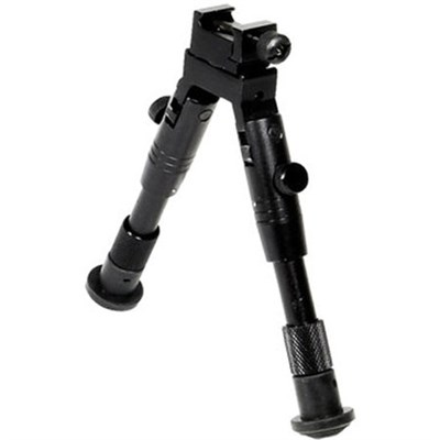 Shooter's SWAT Bipod, Rubber Feet, Height 6.2` - 6.7` (Black) - TLBP28S