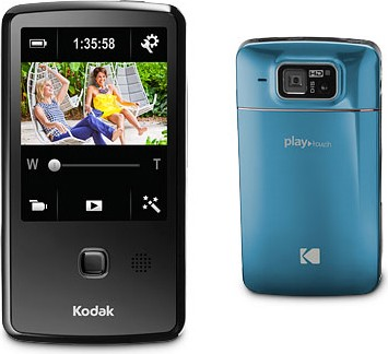 Playtouch Teal 1080p HD Video Camera Camcorder w/ 3.0` Touchscreen