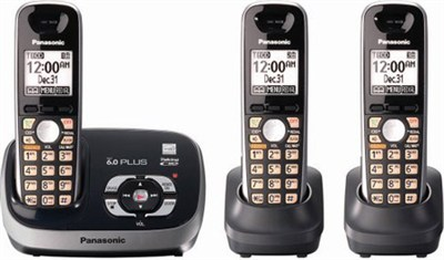 KX-TG6533B DECT 6.0 Plus Expandable Digital Cordless Answering System - OPEN BOX
