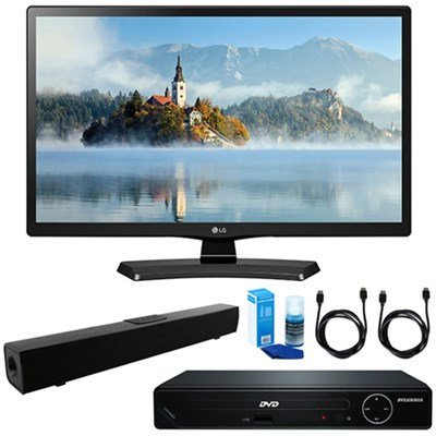 24` Class 23.6` Diag HD 720p LED TV w/ HDMI DVD Player & Sound Bar Bundle
