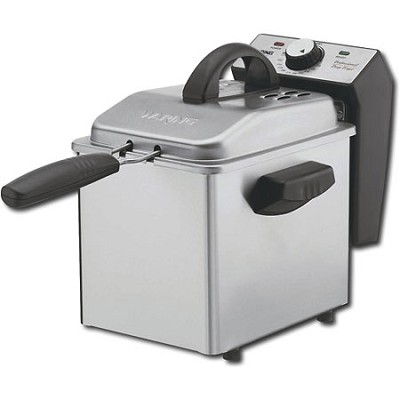 DF55 Professional Mini 1 2/7 Pound Capacity Stainless-Steel Deep Fryer