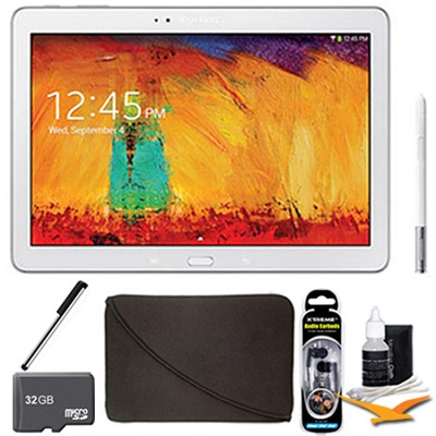 Galaxy Note 10.1 Tablet 2014 Edition (32GB, WiFi, White) 32 GB Accessory Bundle