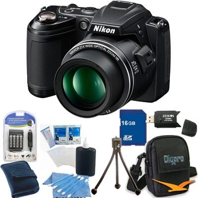 COOLPIX L120 Black Digital Camera 16GB Bundle