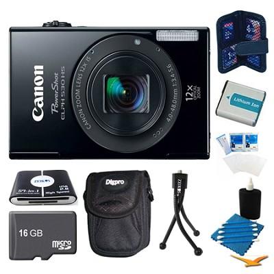 PowerShot ELPH 530 HS Black Camera 16GB Bundle