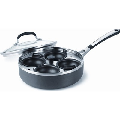 Simply Nonstick 4-cup Egg Poacher with Cover