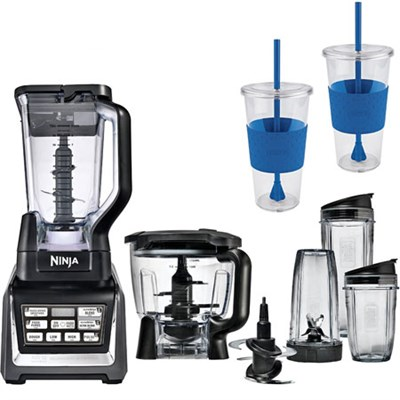 BL682 - 1500watt Nutri Auto-iQ Blender System w/ Mobile 24oz To Go Cup Bundle