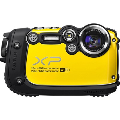 FinePix XP200 16MP Waterproof Digital Camera with 3-Inch LCD (Yellow)