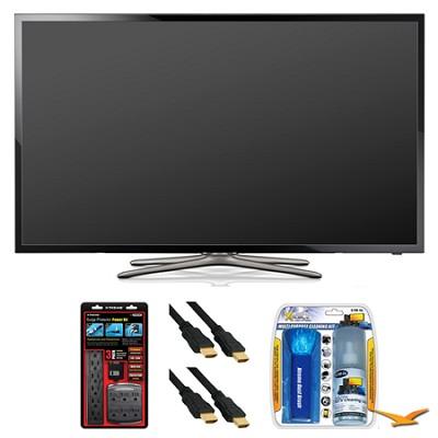 UN46F5500 46` 60hz 1080p WiFi LED Smart HDTV Surge Protector Bundle