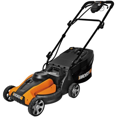 24V Cordless 14-inch Lawn Mower with IntelliCut & Removable Battery