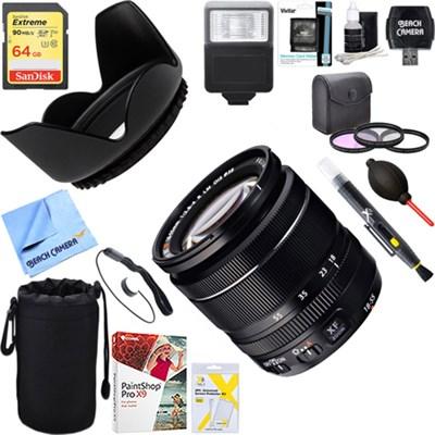 18-55mm F/ 2.8-4.0 R LM OIS X-Mount Zoom Lens + 64GB Ultimate Kit