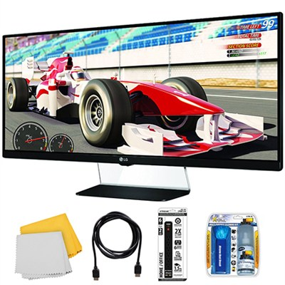 34UM67 34` 21:9 2560 x 1080 Resolution WFHD Monitor with Monitor Kit
