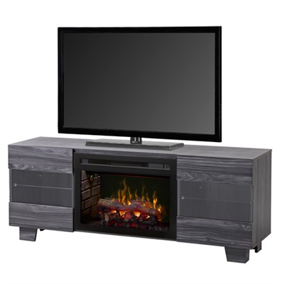 Max Electric Fireplace & Media Console - Carbonized Walnut