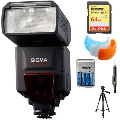 EF-610 DG ST Flash for Sony DSLRs with 64GB Memory Card Bundle
