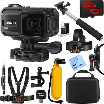 VIRB X Compact Waterproof HD Action Camera with G-Metrix Outdoor Mount Kit