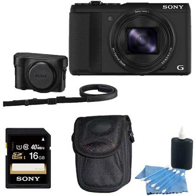 Cyber-shot DSC-HX50V WiFi Digital Camera 16 GB Bundle