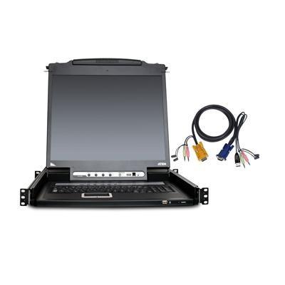 8 Port LCD KVM Console Kit