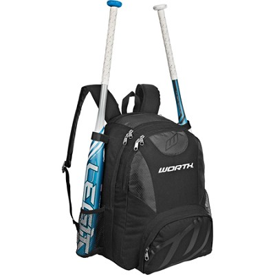 Baseball/Softball Equipment and Bat Backpack Bag - Black