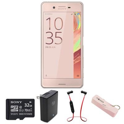 Xperia X Performance 32GB 5` Smartphone Unlocked - Rose Gold w/ Headphone Bundle