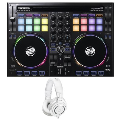 Cross Platform DJ Controller for iPad, Android & Mac w/ Studio Headphone