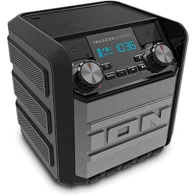 Ion Audio Tailgater Express 20W Water-Proof Bluetooth Compact Speaker (Black) - Refurbished + CPS 1 Year Protection Plan
