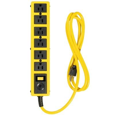 Yellow Jacket 6-Outlet Met Strip with 6' Cord - 5139N