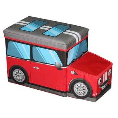 Mini Car Ottoman Red