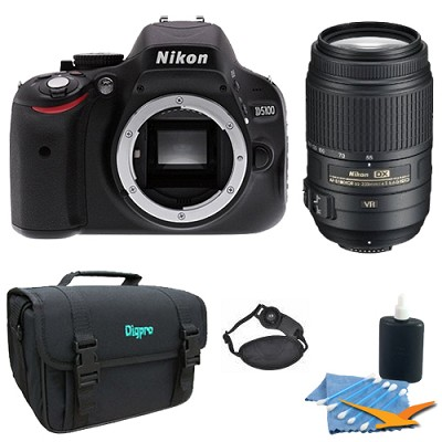 D5100 DX-format Digital SLR Body w/ 3-inch Vari-angle LCD w/ 55-300mm VR