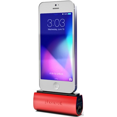 PS-MICRO2C-RED Flex Micro 2600 mAh Battery Pack for iPhone 5 - Red