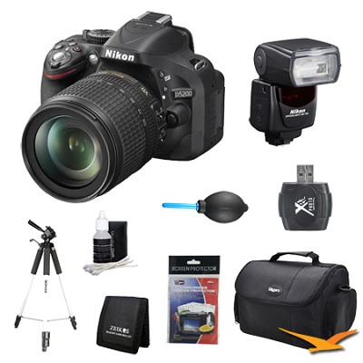 D5200 DX-Format Digital SLR with 18-105mm and Flash Lens Kit