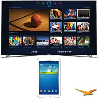 UN55F8000 - 55` 1080p 240hz 3D Smart Wifi LED HDTV - 7-Inch Galaxy Tab 3 Bundle