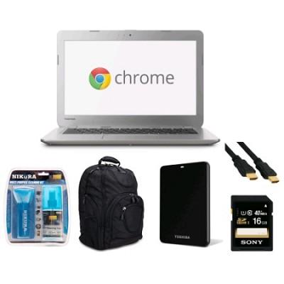 Chromebook 13.3` Laptop Fully Loaded Essential Bundle