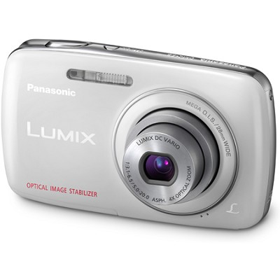 Lumix DMC-S3 14MP Compact White Digital Camera w/ 720p HD Video