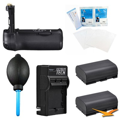 Vertical BG-E14 Battery Grip for the Canon EOS 70D Kit