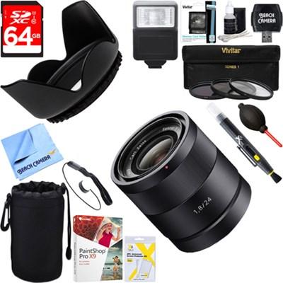 Carl Zeiss 24mm f/1.8 E-Mount Lens + 64GB Ultimate Kit