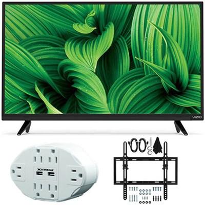 D-Series D32hn-E1 32` Class Full-Array LED TV w/ Tilt Wall Mount Bundle