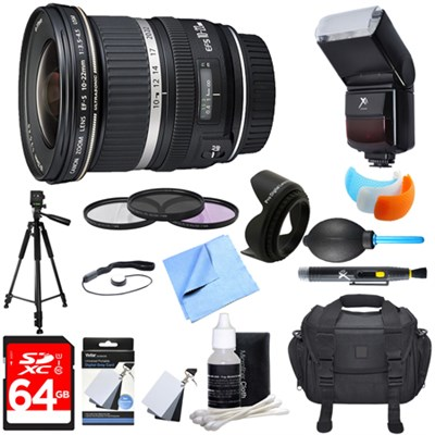 EF-S 10-22mm F/3.5-4.5 USM Lens Ultimate Accessory Bundle