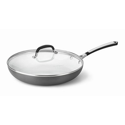 1882026 Hard-Anodized Ceramic Nonstick Omelette Pan with Lid, 12`