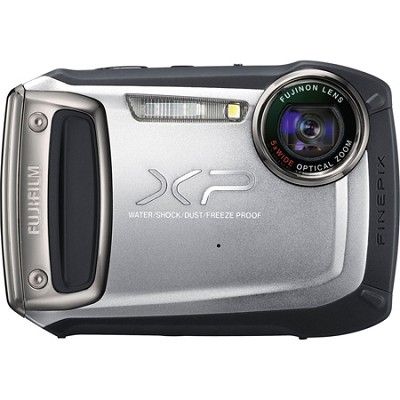 Finepix XP100 14MP Water/Shock/Freeze/Dust-Proof DigiCam (Silver) - OPEN BOX